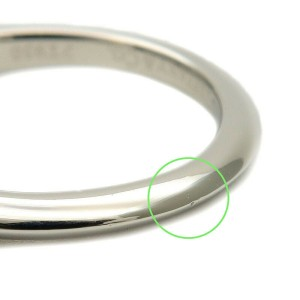 Authentic Tiffany&Co. Solitaire Diamond Ring 0.20t Platinum US4 EU47 Used F/S