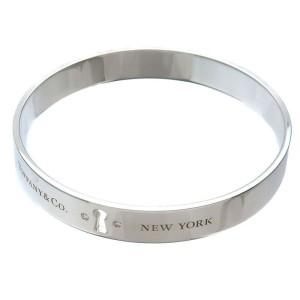 Authentic Tiffany&Co. Rock Bangle Bracelet 2P Diamond Silver 925 Used F/S