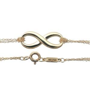 Authentic Tiffany&Co. Infinity Bracelet K18YG 750YG Yellow Gold Used F/S