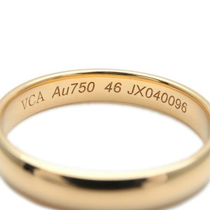 Authentic Van Cleef & Arpels Marriage Ring K18 Yellow Gold #46 US3.5-4 Used F/S