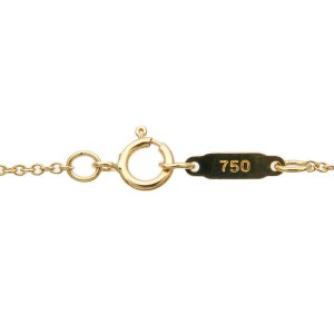 Authentic Tiffany&Co. Heart Ribbon Necklace K18 750 Yellow Gold Used F/S