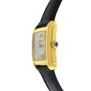 Tourneau Super Oro Quadro CA4029 Ladies 18K Yellow Gold MOP Quartz 21MM Watch