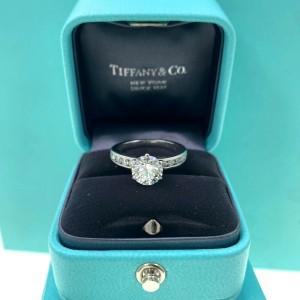 Tiffany & Co Round G VS2 1.91 tcw Channel Set Diamond Band Engagement Ring Plat