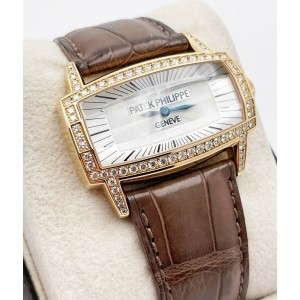 Patek Philippe 4991R Ladies Gondolo Gemma 18K Rose Gold with Leather Strap