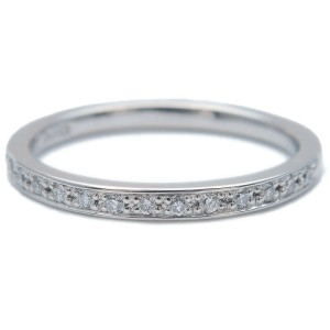 Authentic 4℃ Half Eternity Diamond Ring Platinum PT950 US4.5 EU48 Used F/S
