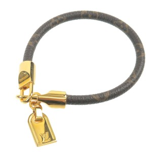 Authentic Louis Vuitton Monogram Bracelet Luck It M6605F Used F/S