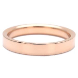 Authentic Tiffany&Co. Flat Band Ring K18 Rose Gold US5.5 HK11.5 EU50 Used F/S