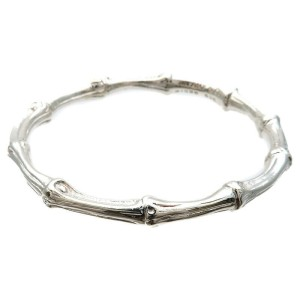 Authentic Tiffany&Co. Bamboo Bangle Bracelet SV925 Silver Used F/S