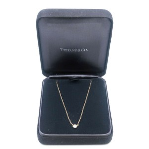 Auth Tiffany&Co. By the Yard 1P Diamond Necklace 0.25ct Yellow Gold Used F/S