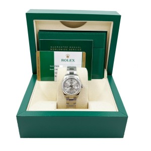 Rolex Datejust 178240 Midsize 31mm Silver Dial Stainless Steel Box Papers