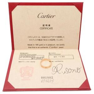 Authentic Cartier Mini Love Ring K18 750 Rose Gold #52 US6 HK13 EU52 Used F/S