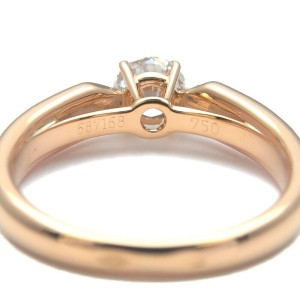 Auth Cartier Trinity Solitaire Diamond Ring 0.51ct YG/WG/PG #50 US5-5.5 Used F/S