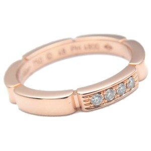 Authentic Cartier maillon Panthère 4P Diamond Ring Rose Gold #48 US4.5 Used F/S