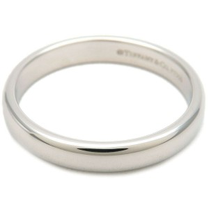 Authentic Tiffany&Co. Classic Band Ring PT950 Platinum US6.5 HK14 EU53 Used F/S