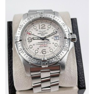 Breitling A17390 Superocean White Dial Stainless Steel
