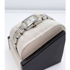 Cartier Ref 2384 Tank Francaise W51007Q4 18K Yellow Gold Stainless