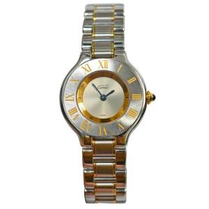 Cartier Must de Cartier 1340 Ladies Quartz Steel Gold 28MM Watch