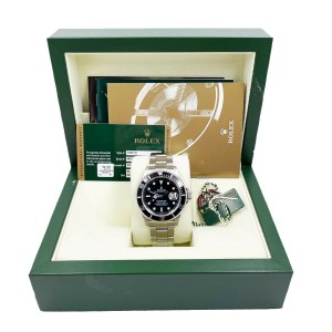 Rolex Submariner 16610 Black Dial Stainless Steel Box papers 2007
