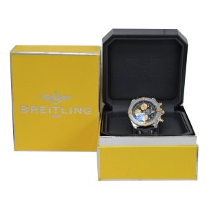 Breitling Chronomat B13356 Mens Gold Stainless Steel Date Automatic 43MM Watch