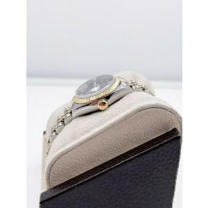 Rolex Ladies Datejust 79173 Blue Jubilee Dial 18K Yellow Gold Steel Box Paper