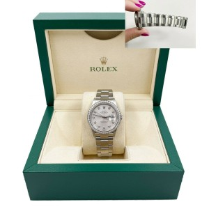 Rolex Datejust 16264 Silver Dial Stainless Steel 2002