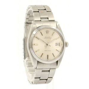 ROLEX OysterDate Precision 6694 Stainless Steel Silver Dial Watch