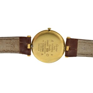 Cartier Must de Cartier Vermeil 590003 Silver Gold Plaque Quartz 30MM Watch