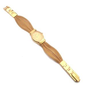 Authentic Christian Dior Ladies Mesh Band Watch Wristwatch