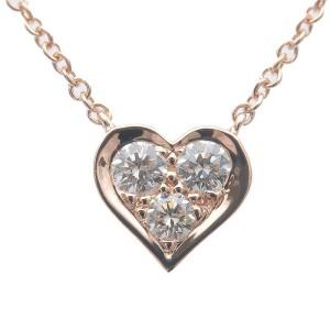 Authentic Tiffany&Co. Sentimental Heart 3P Diamond Necklace