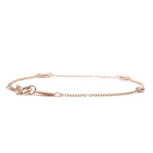 Authentic Tiffany&Co. By the Yard 1P Diamond 0.03ct Bracelet Rose