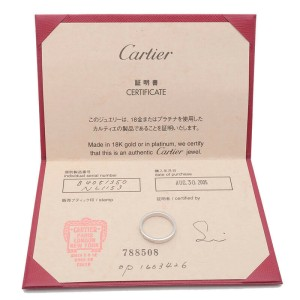 Authentic Cartier Engraved 1P Diamond Ring