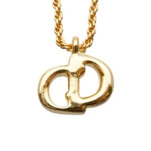 Authentic Christian Dior CD Logo Necklace Pendant