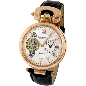 Stuhrling Emperor 12733452 Gold-Tone Stainless Steel & Leather 41mm Watch