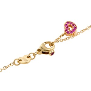 Pasquale Bruni Amore 18K Yellow Gold 2.20ctw Pink Sapphire and 1ctw Diamond Pendant Necklace
