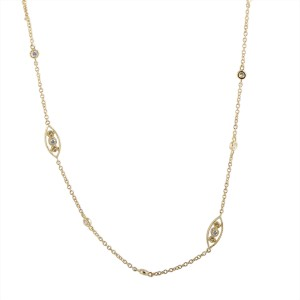 Odelia 18K Yellow Gold with 0.65ctw Diamond Collar Necklace