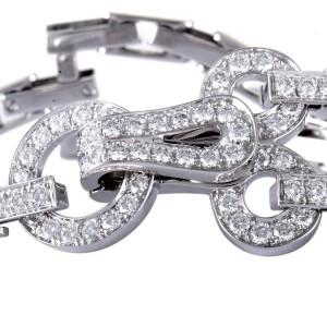 Cartier Agrafe Bracelet 18K White Gold Diamond