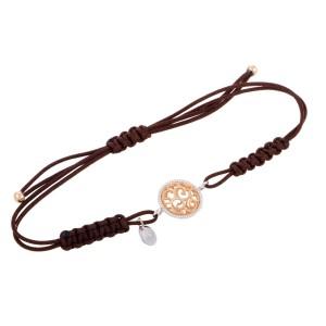 Bucherer 18K Rose and White Gold Filigree Bracelet