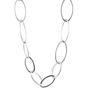 Bucherer 18K White Gold Link Necklace