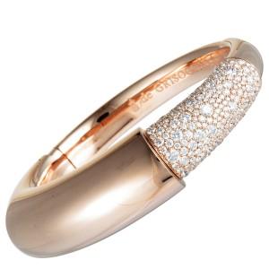 de Grisogono 18K Rose Gold Diamond Pave Bangle Bracelet. Size M
