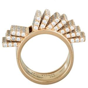 Cartier 18K Rose Gold Diamond Fan Band Ring