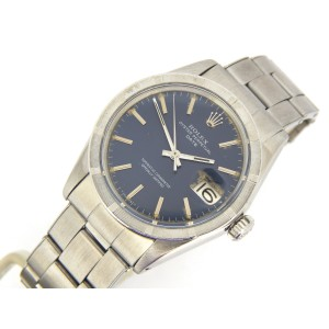 Mens Rolex Stainless Steel Date Blue 1501