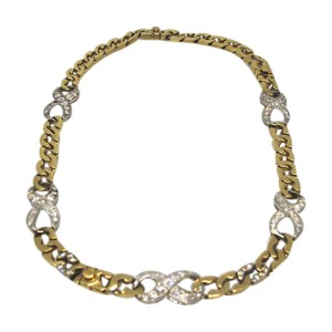 14K Yellow Gold & Diamond Necklace