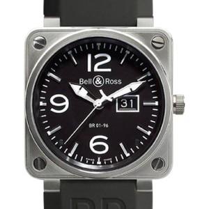 Bell & Ross BR01-96-GD Grande Date Steel Black Dial 46mm Watch