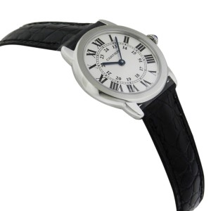 Cartier Ronde Solo W6700155 Quartz White Dial Stainless Steel Watch