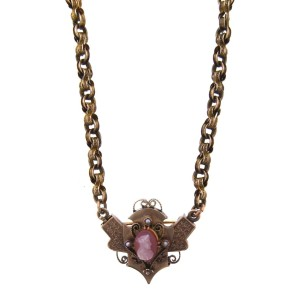 14K Yellow Gold, Pearl Cameo & Carnelian Necklace