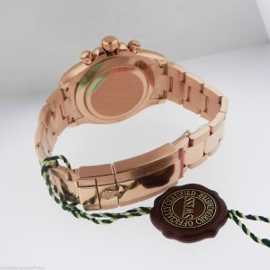 Rolex Cosmograph Daytona Men's Rose Gold Watch 116505 Pink Dial