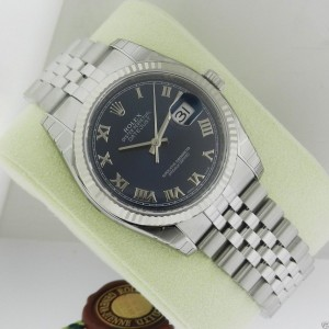 Rolex Datejust 36mm Blue Roman Jubilee Fluted 116234