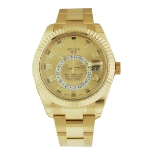 Rolex Sky Dweller 326938 Oyster Perpetual Yellow Gold Watch