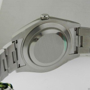 Rolex Datejust II 116334 SIO Silver 18K Gold Automatic Swiss 41mm Mens Watch