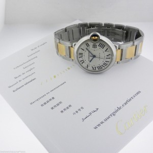 Cartier Ballon Bleu W6920047 Stainless Steel Gold Medium Automatic Watch
